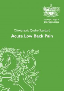 Acute Low Back Pain Quality Standard long thumb