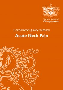 Acute Neck Pain Quality Standard long thumb