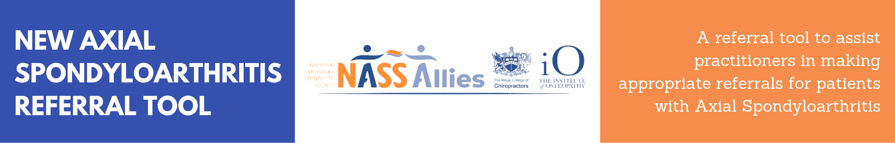NASS, axial spondyloarthritis referral tool, RCC, institute of osteopathy