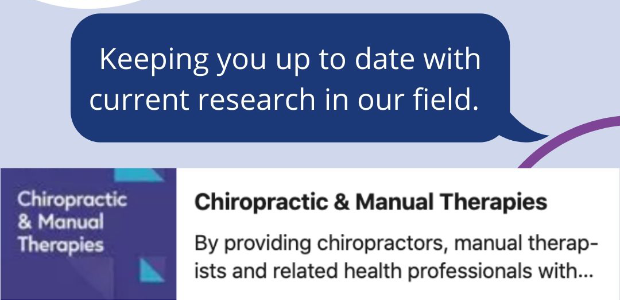 chiro manual therapies, journal, research, publications