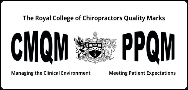 cmqm, ppqm, royal college of chiropractors, quality awards, quality marks